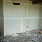 More sheetrock goes up.