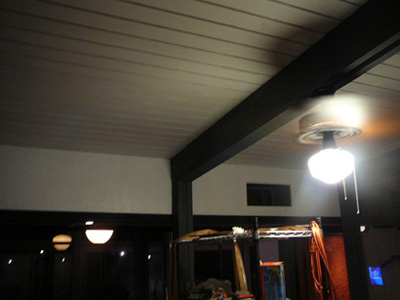 The ceilings are really nice tongue and groove wood but they're very dark and really made the room like a cave at night.  The white stain on the ceilings were a great fix.  LOTS OF WORK.  MORE THAN I PLANNED.  Totally worth it.