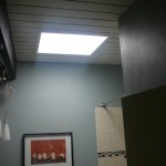 "I know this is an awful picture but taking a picture of ""sunshine"" makes it hard.  The bathroom has a wonderful sky light and you never need to turn on a light during the day."
