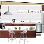 modern kitchen plan drawing