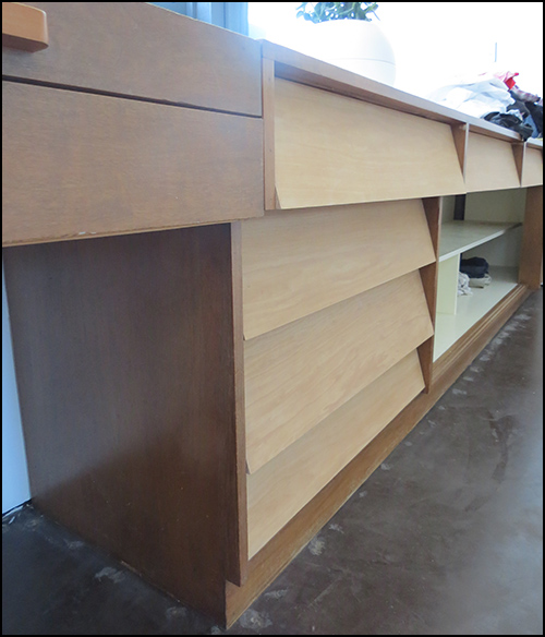 sanded drawers