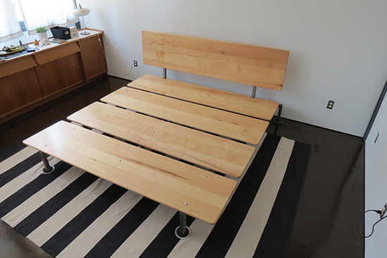 platform bed king diy